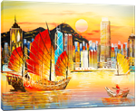 Picture of Landscapes - Hong Kong Harbour - O031