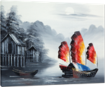 Picture of Landscapes - Chinese Junk Boat - O086