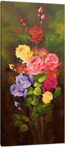 Picture of Flowers - Roses - Multi-coloured Tall Bunch - O020